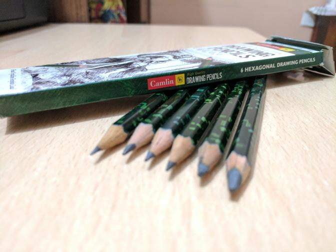 Camlin High Quality Drawing Pencils (Set of 6)