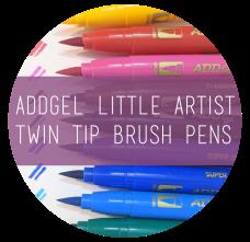 AddGel Little Artist Twin Tip Brush Pens-Icon