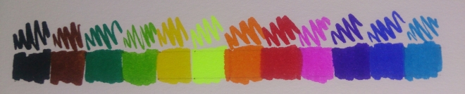 Camlin Brush Pen Swatches