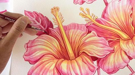 Sanjana's Art Hibiscus.jpg