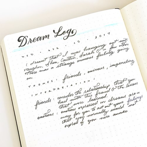 A Dream Log in your Bullet Journal can help you learn more about yourself